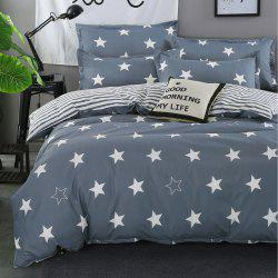 South Cloud 4PCS Bedding Cover Stars Simple Soft Bedsheet Set -