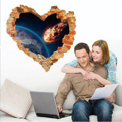 Sticker mural 3D Sky Ground Building Belle décoration de paysage XQ040126
