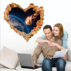 Sticker mural 3D Sky Ground Building Belle décoration de paysage XQ040126 -