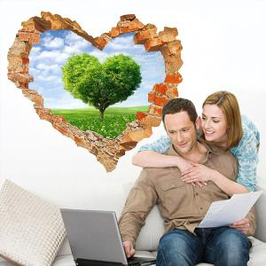 3D Wall Sticker Sky Ground Building Beautiful Landscape Decoration XQ040127 -