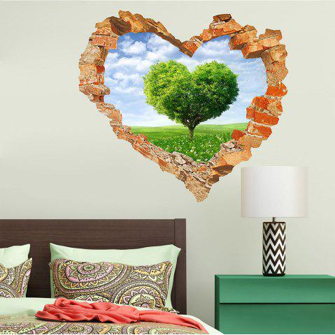 Hot 3D Wall Sticker Sky Ground Building Beautiful Landscape Decoration XQ040127