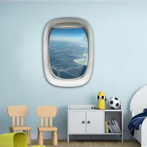 3D Wall Sticker Sky Ground Building Beautiful Landscape Decoration XQ030013 -