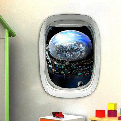 3D Wall Sticker Sky Ground Building Beautiful Landscape Decoration XQ030014 -