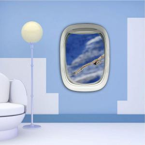 3D Wall Sticker Sky Ground Building Beautiful Landscape Decoration XQ030015 -