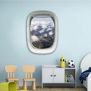 3D Wall Sticker Sky Ground Building Beautiful Landscape Decoration XQ030017 -