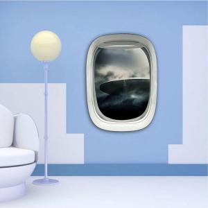 3D Wall Sticker Sky Ground Building Beautiful Landscape Decoration XQ030019 -