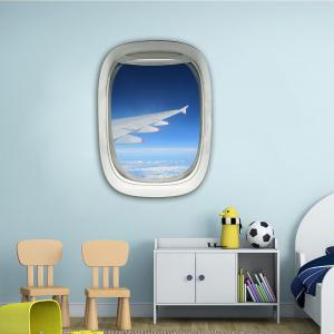 3D Wall Sticker Sky Ground Building Beautiful Landscape Decoration XQ030020 -