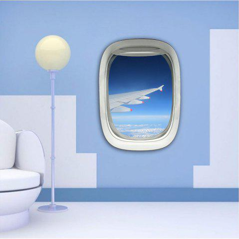 Trendy 3D Wall Sticker Sky Ground Building Beautiful Landscape Decoration XQ030020