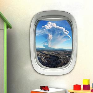 3D Wall Sticker Sky Ground Building Beautiful Landscape Decoration XQ030025 -