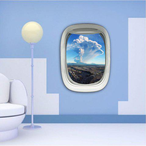 Sticker mural 3D Sky Ground Building Belle décoration de paysage XQ030025