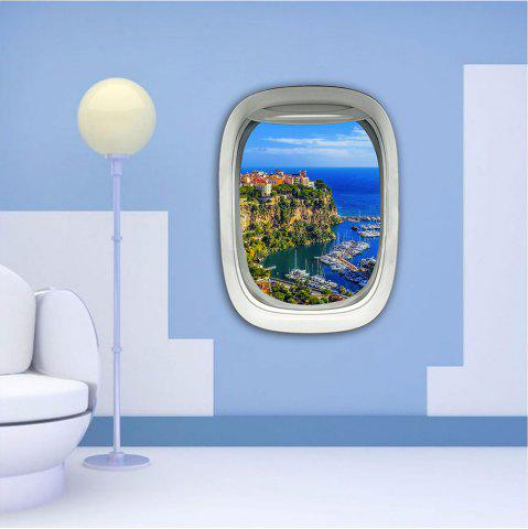 Online 3D Wall Sticker Sky Ground Building Beautiful Landscape Decoration XQ030027