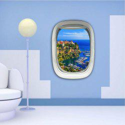 3D Wall Sticker Sky Ground Building Beautiful Landscape Decoration XQ030027 -