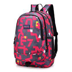 Наплечная сумка средней школы Schoolbag Колледж Ветер Компьютерный рюкзак Hit Color Pack -