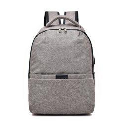 Multifunctional Shoulder USB Large Capacity Computer Student Bag -