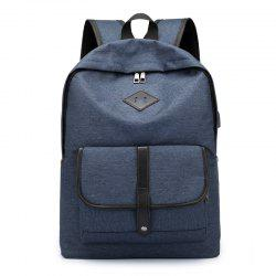 Cloth Student Backpack Charging Computer Bag -