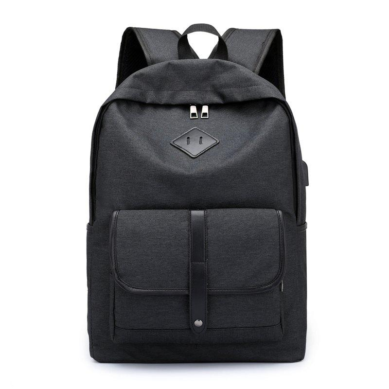 Affordable Cloth Student Backpack Charging Computer Bag