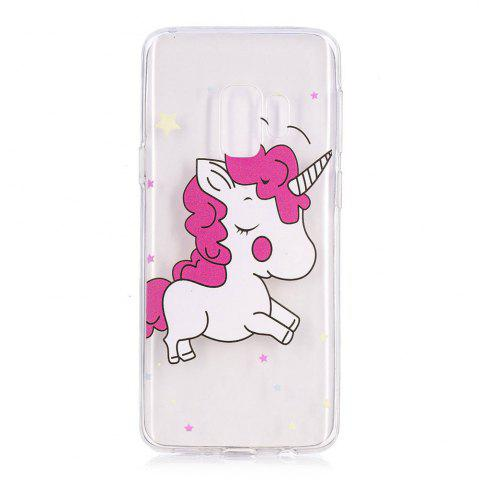 Chic TPU Material Pink Unicorn Pattern Painted Phone Case for Samsung Galaxy S9 Plus