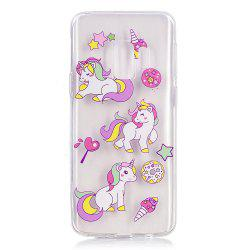 TPU Material Three Unicorns Pattern Painted Phone Case for Samsung Galaxy S9 Plus -