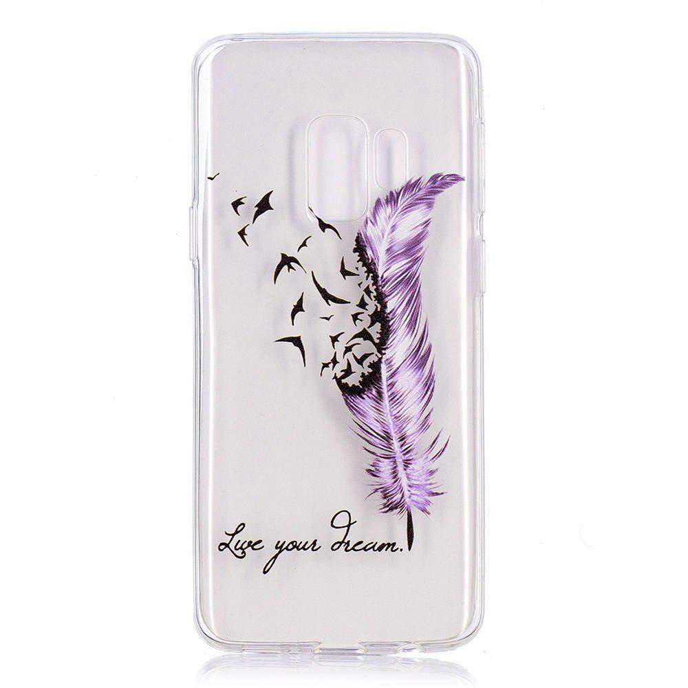 Online TPU Material Feather Pattern Painted Phone Case for Samsung Galaxy S9 Plus