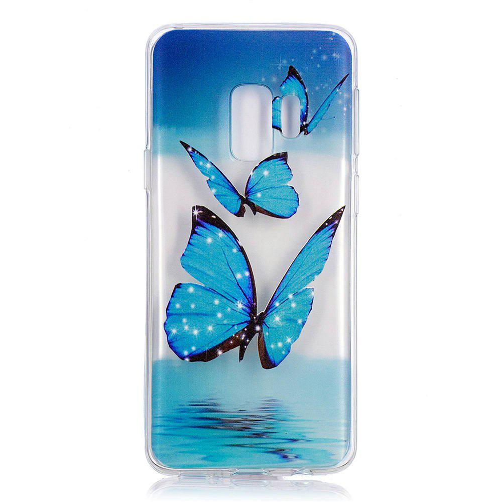 Unique TPU Material Butterfly Pattern Painted Phone Case for Samsung Galaxy S9 Plus