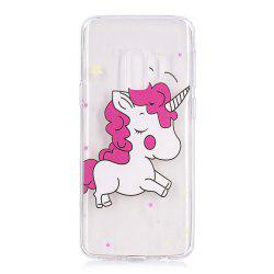 TPU Material Pink Unicorn Pattern Painted Phone Case for Samsung Galaxy S9 -