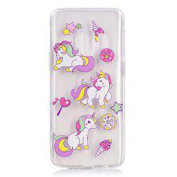 TPU Material Three Unicorns Pattern Painted Phone Case for Samsung Galaxy S9 -