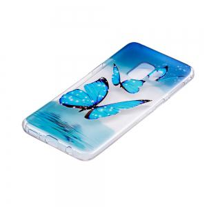 TPU Material Butterfly Pattern Painted Phone Case for Samsung Galaxy S9 -