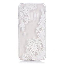 TPU Material White Rose Pattern Painted Phone Case for Samsung Galaxy S9 -