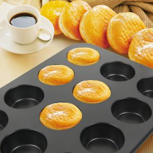 Cupcake Muffin Cake Tool DIY Baking Tray 12 Holes Round Non Stick Mold -