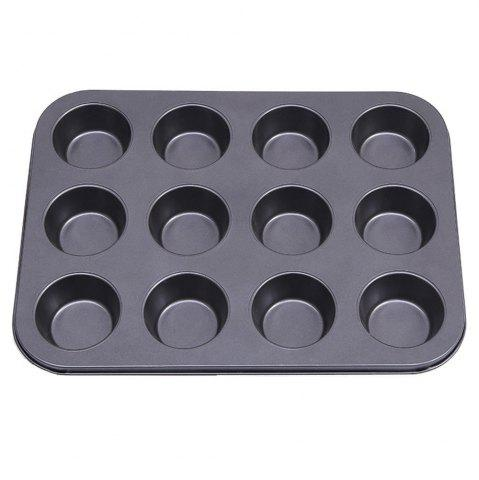 Online Cupcake Muffin Cake Tool DIY Baking Tray 12 Holes Round Non Stick Mold