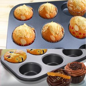 6 Hole Round Shape Cupcake Pan Nonstick Muffin Bakeware Pastry Mold -
