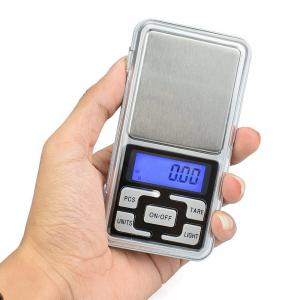 High Accuracy Mini Electronic Digital Pocket Scale Jewelry Diamond Gold Coin Calibration Weighing Balance Portable -