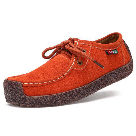 Affordable ZEACAVA Women's Leather Flat with Casual Peas Shoes