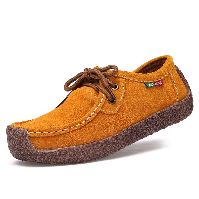 650a05c97 34% OFF] ZEACAVA Women's Leather Flat With Casual Peas Shoes   Rosegal
