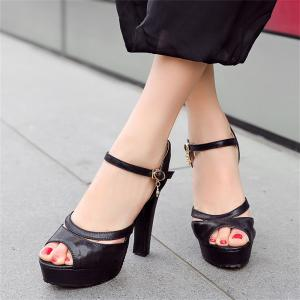 Women Shoes Ankle Strap Chunky Heel  Sandals -