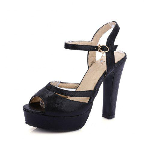 Discount Women Shoes Ankle Strap Chunky Heel  Sandals