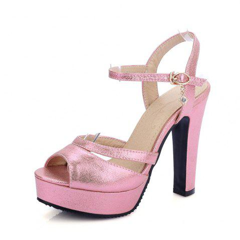 Affordable Women Shoes Ankle Strap Chunky Heel  Sandals