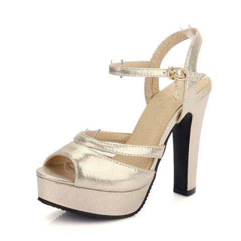 Hot Women Shoes Ankle Strap Chunky Heel  Sandals