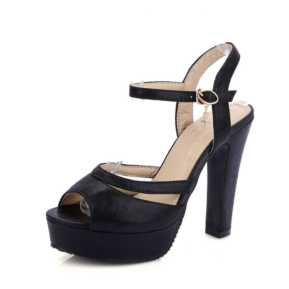 Shops Women Shoes Ankle Strap Chunky Heel  Sandals