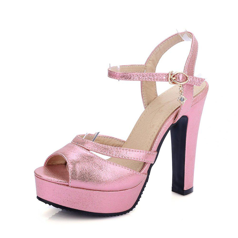 Store Women Shoes Ankle Strap Chunky Heel  Sandals
