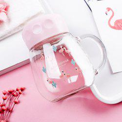 Transparent Glass Animal Print Fashion Teacup 350ML -