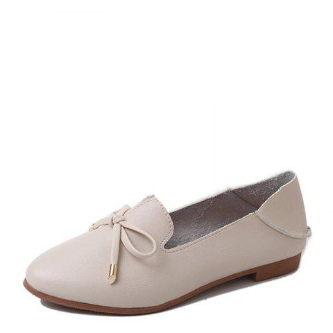 Store Single Ladies Fashion Shallow Mouth Flat Bow Two Shoes