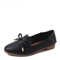 Single Ladies Fashion Shallow Mouth Flat Bow Two Shoes -