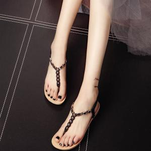 Flat Bottom of Students' Sandals with Pinch Toe -
