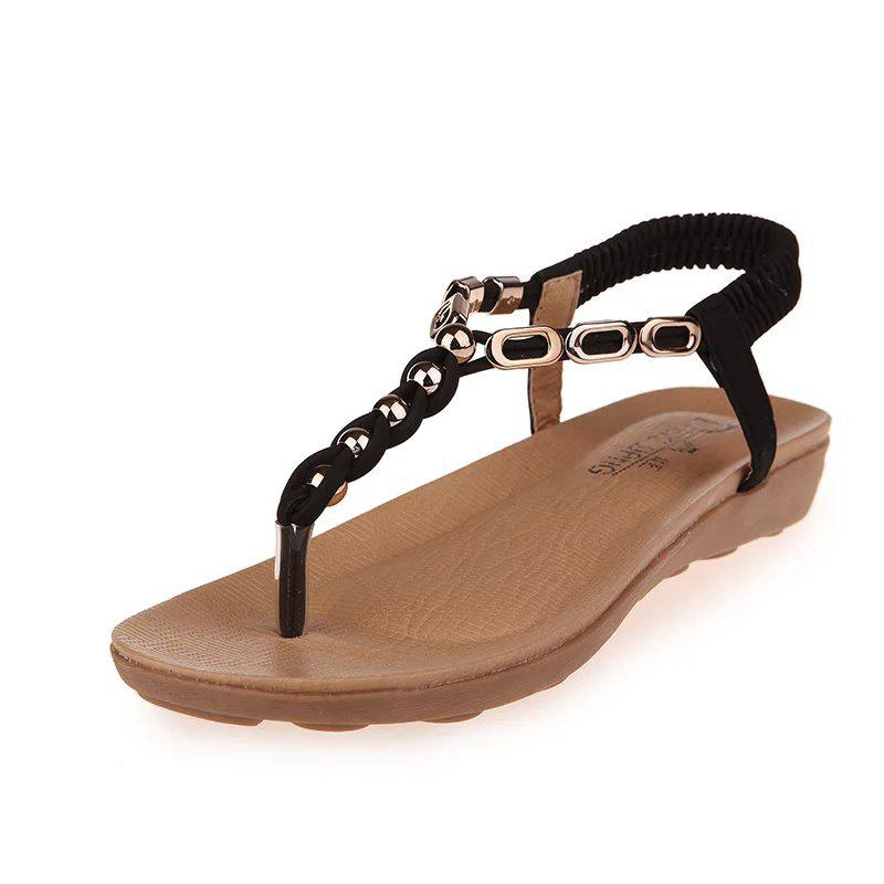Hot Flat Bottom of Students' Sandals with Pinch Toe