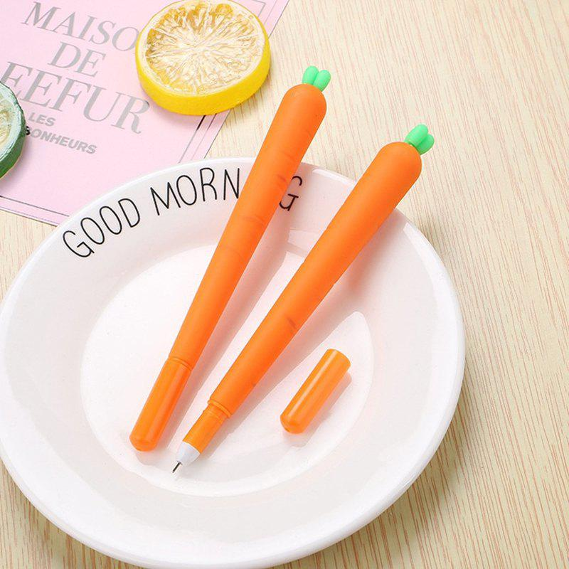 Buy 3PCS Cute Silicone Carrot Gel Pen Writing Signing Pen School Office Supply Student Stationery Kids Gift