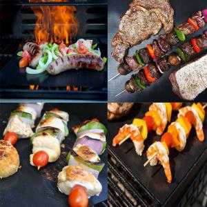 Reusable BBQ Grill Mat Non Stick Liners Oven Grill Foil Barbecue -