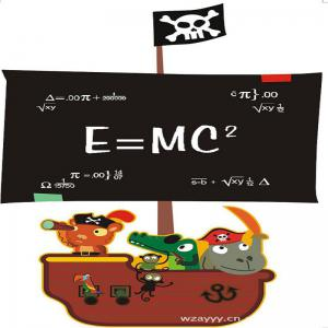 DSU Teaching Blackboard Writing Pirate Ship Painting Can Remove Office Creative Wall Stickers -