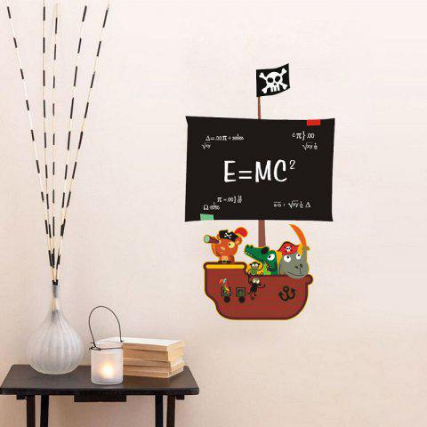New DSU Teaching Blackboard Writing Pirate Ship Painting Can Remove Office Creative Wall Stickers
