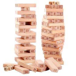 Highquality Wooden Tower 51   Building Blocks Domino Game Toys Interesting Children Gifts -